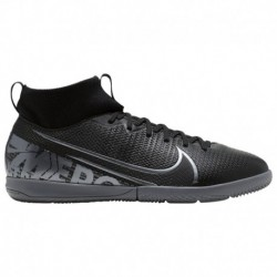 Nike Mercurial Superfly Academy CR7 Nike Mercurial Superfly 7 Academy IC - Boys' Grade School Black/Metallic Cool Grey/Cool Gre
