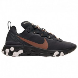 Nike React Element 55 Grey Tan Nike React Element 55 - Women's Oil Grey/Oil Grey/Echo Pink   Holiday Sparkle Pack